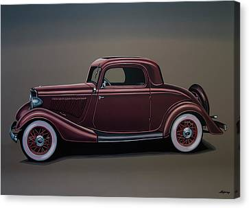 Ford 3 Window Coupe Painting Canvas Print by Paul Meijering