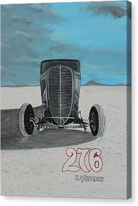 Ford 34' At Bonneville Canvas Print by Chris Lambert