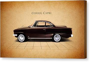 Ford Consul Capri Canvas Print by Mark Rogan