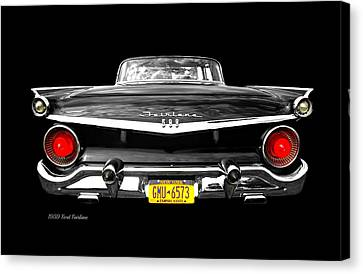 Ford Fairlane 500 Canvas Print by Diana Angstadt