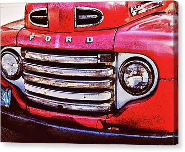 Ford Grille Canvas Print by Michael Thomas