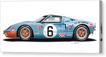 Ford Gt 40 1969 Canvas Print by Alain Jamar