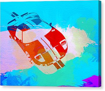 Ford Gt Watercolor  Canvas Print by Naxart Studio