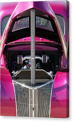 Ford Hot Rod Grille Canvas Print by Jill Reger