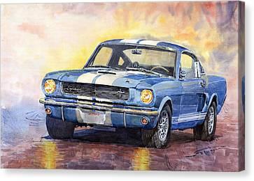 Ford Mustang Gt 350 1966 Canvas Print by Yuriy Shevchuk