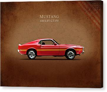 Ford Mustang Shelby Gt350 1969 Canvas Print by Mark Rogan