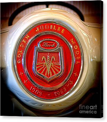Ford Nna Badge Canvas Print by Olivier Le Queinec