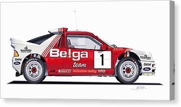 Ford Rs 200 Belga Team Illustration Canvas Print by Alain Jamar