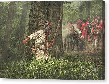 Forest Fight Canvas Print by Randy Steele