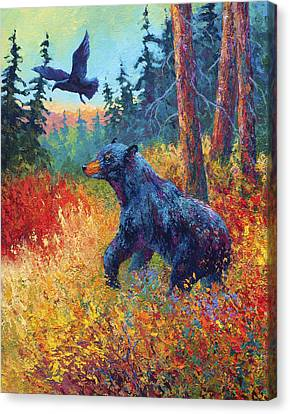 Forest Friends Canvas Print by Marion Rose