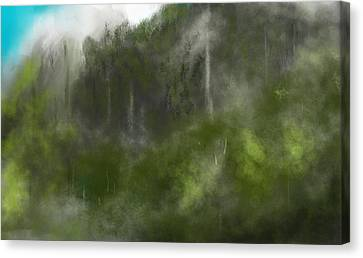 Forest Landscape 10-31-09 Canvas Print by David Lane