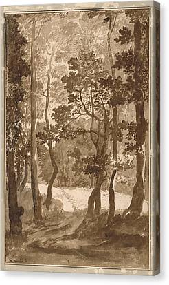 Forest Path  Canvas Print by Nicolas Poussin