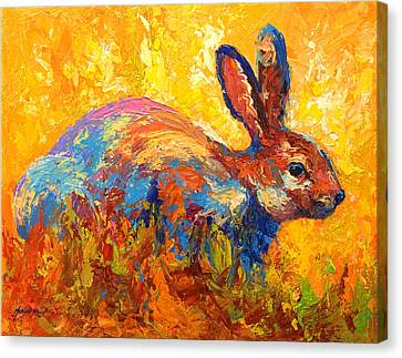 Forest Rabbit II Canvas Print by Marion Rose