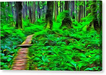 Forest Way - Da Canvas Print by Leonardo Digenio