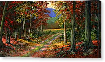 Forgotten Road Canvas Print by Frank Wilson
