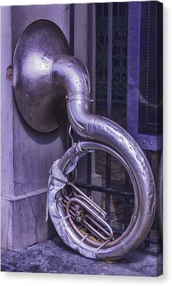 Forgotten Tuba Canvas Print by Garry Gay