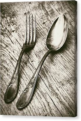 Fork And Spoon Canvas Print by Wim Lanclus