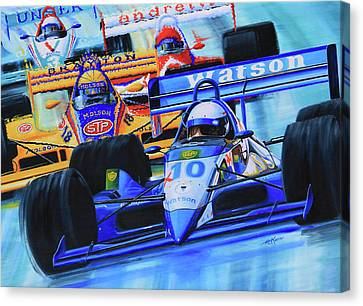 Formula1 Wall Mural Canvas Print by Hanne Lore Koehler