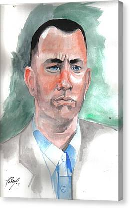 Forrest Gump Canvas Print by Torben Gray
