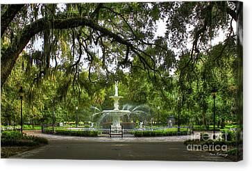 Forsyth Park Fountain Historic Savannah Georgia Canvas Print by Reid Callaway