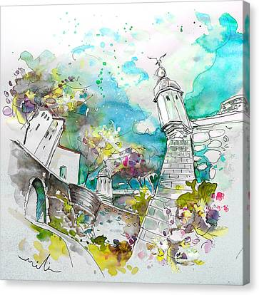 Fort And Houses In Valenca Canvas Print by Miki De Goodaboom