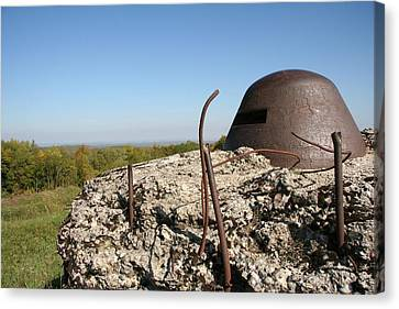 Canvas Print featuring the photograph Fort De Douaumont - Verdun by Travel Pics