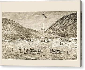 Fort Douglas Camp And Red Buttes Ravine Canvas Print by Vintage Design Pics