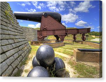 Fort Moultrie Cannon Balls Canvas Print by Dustin K Ryan