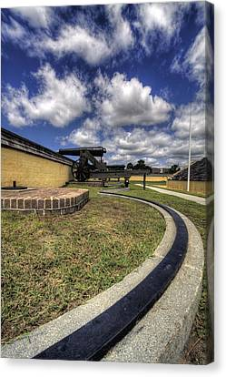 Fort Moultrie Cannon Rails Canvas Print by Dustin K Ryan