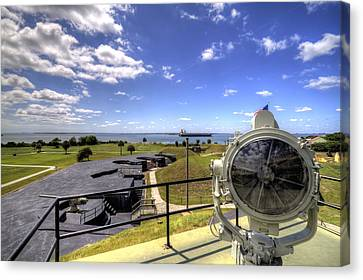 Fort Moultrie Signal Light Canvas Print by Dustin K Ryan