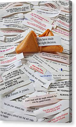Fortune Cookie Sayings  Canvas Print by Garry Gay