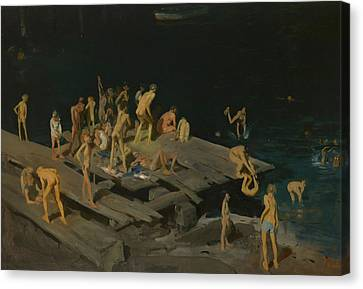Forty Two Kids Canvas Print by George Wesley Bellows