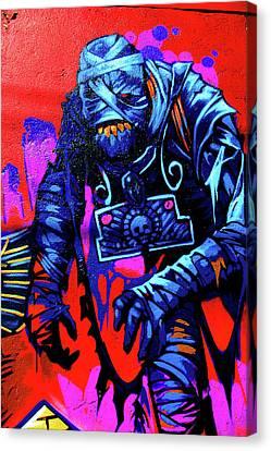 Found Graffiti 25 Mummy Canvas Print by Jera Sky