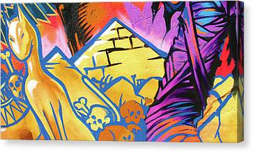 Found Graffiti 28 Cat Canvas Print by Jera Sky
