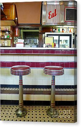 Four Aces Diner Canvas Print by Edward Fielding
