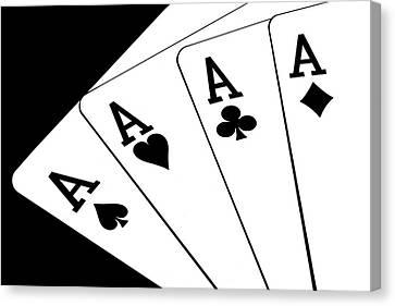 Four Aces I Canvas Print by Tom Mc Nemar