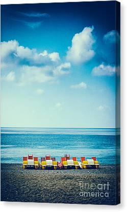 Four Pedal Boats Canvas Print by Silvia Ganora