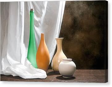 Four Vases I Canvas Print by Tom Mc Nemar