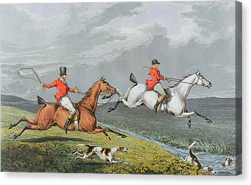 Fox Hunting - Full Cry Canvas Print by Charles Bentley
