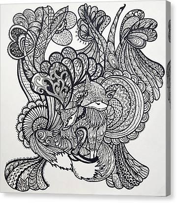 Fox Lover Canvas Print by Venie Tee