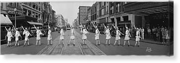 Fox Roller Skating Girls Washington Dc 1929 Canvas Print by Panoramic Images