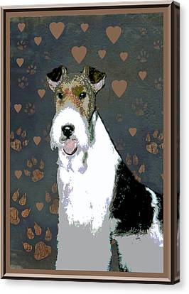 Fox Terrier Wire Canvas Print by One Rude Dawg Orcutt