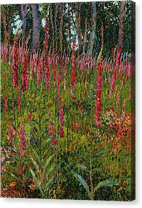 Foxgloves Canvas Print by Georges Lacombe
