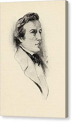 Fr D Ric Fran Ois Chopin, 1810-1849 Canvas Print by Vintage Design Pics