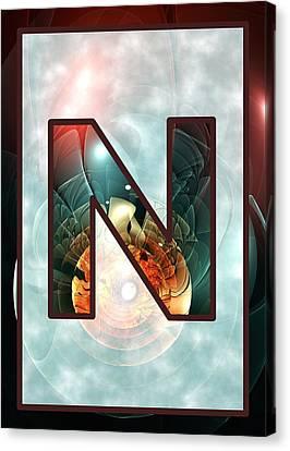 Fractal - Alphabet - N Is For Night Vision Canvas Print by Anastasiya Malakhova