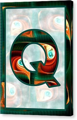 Fractal - Alphabet - Q Is For Quizzical Canvas Print by Anastasiya Malakhova