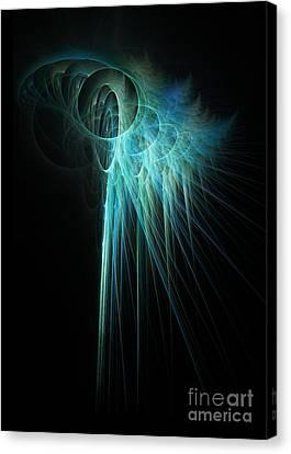 Fractal Rays Canvas Print by John Edwards