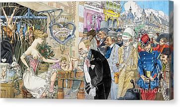 France: Brothel, 1904 Canvas Print by Granger