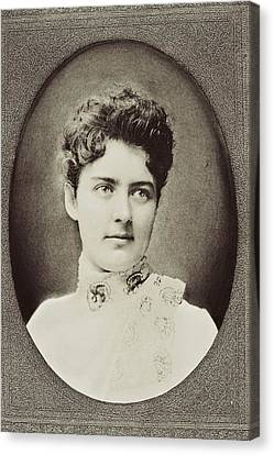 Frances Clara Folsom Cleveland Preston Canvas Print by Vintage Design Pics