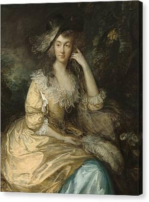 Frances Susanna Lady De Dunstanville Canvas Print by Thomas Gainsborough
